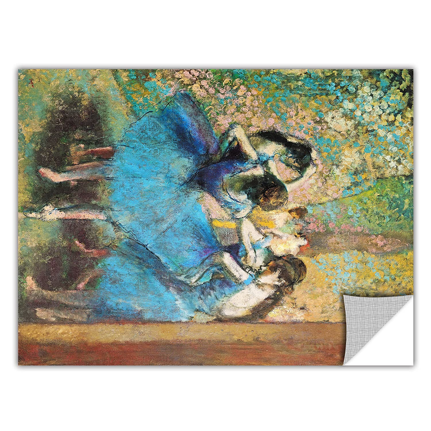 ArtWall Edgar Degas Dancers in Blue Removable Graphic Wall Art 14 by 18-Inch