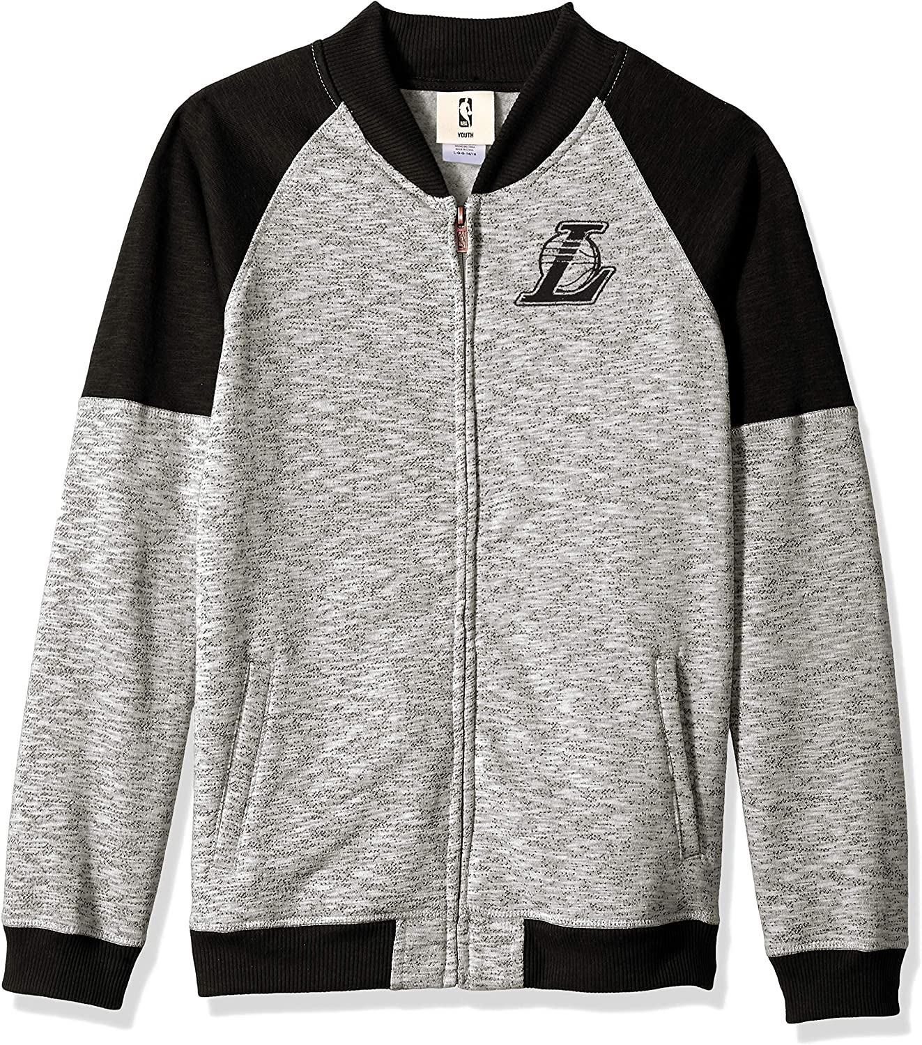 8 NBA by Outerstuff NBA Youth Boys Los Angeles Lakers Game Changer Full Zip Jacket Heather Grey Youth Small