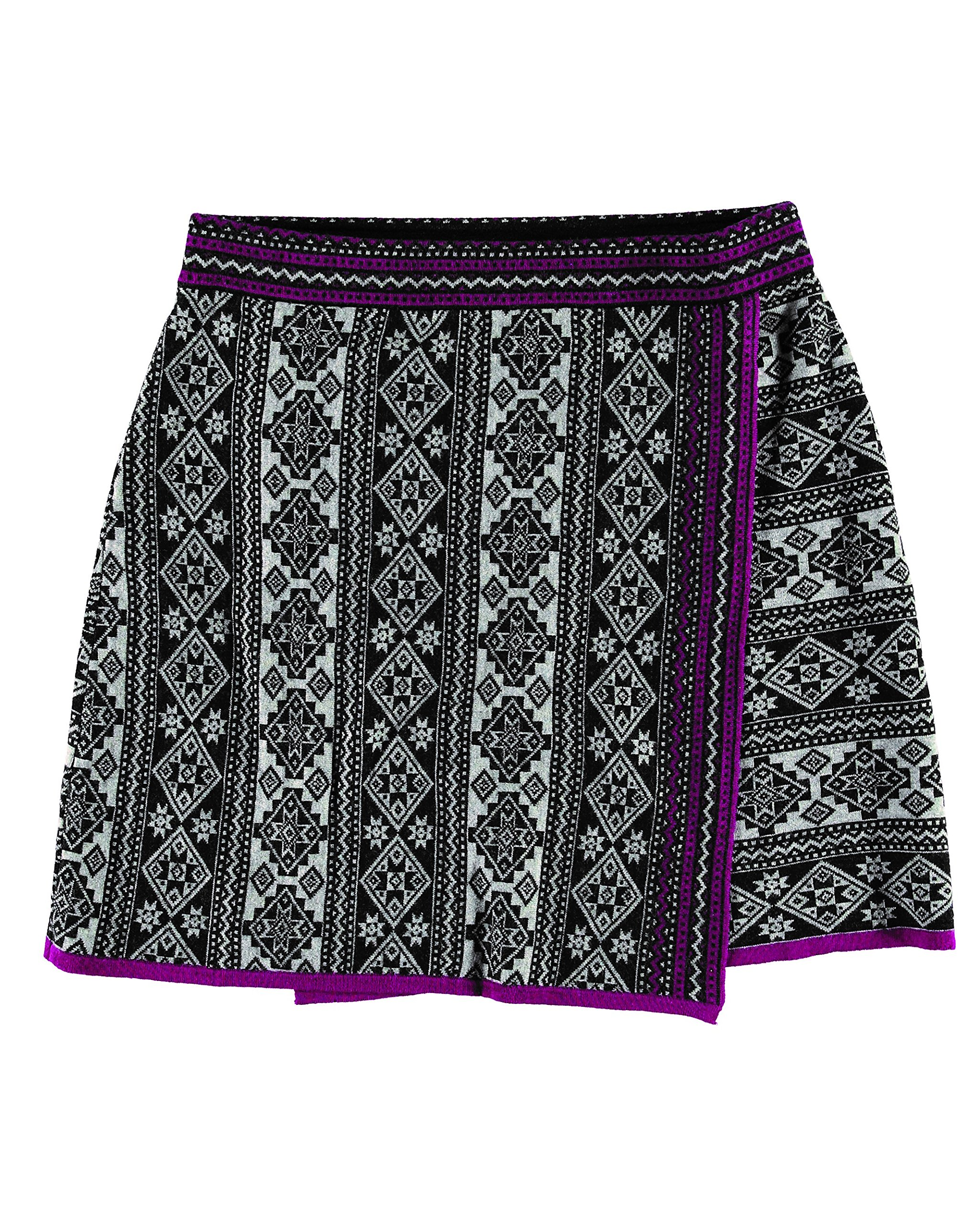 Krimson Klover Chantal Fair Isle Wrap Skirt - ( Loganberry, Medium ) by Krimson Klover