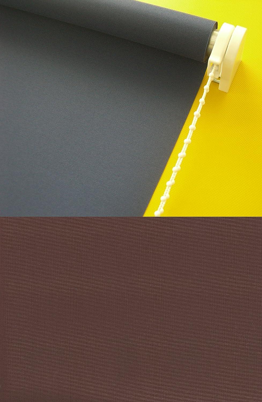 Verdunkelungsrollo Kettenzugrollo Seitenzugrollo Rollo Braun Cappuccino Breite 60-200 cm Länge 180 cm Sonnenschutz Sichtschutz verdunkelnd (180 x 180 cm)