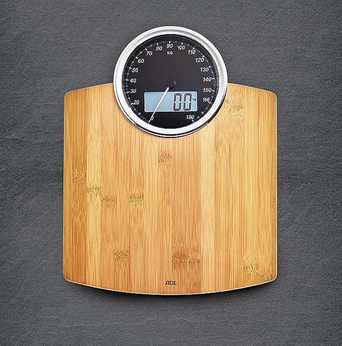 ADE Báscula personal de baño BE1719 Luna. Clásica. Dual - Analógica y digital. Capacidad hasta de 180 kg. Incluye Baterías. Bambu: Amazon.es: Salud y ...