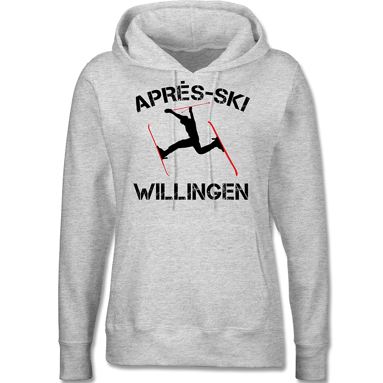 Après Ski - Apres Ski Willingen - langärmeliger Damen Kapuzenpullover / Hoodie