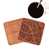 San Jose, CA Map Coaster by O3 Design Studio, Set