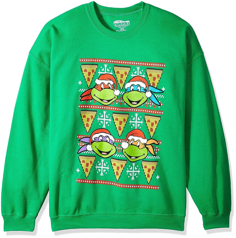 Nickelodeon Men\'s TMNT Pizza Ugly Christmas Sweatshirt at Amazon ...