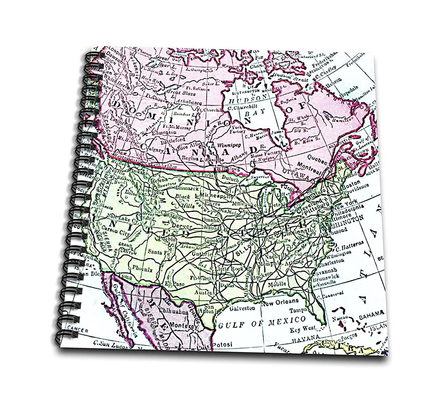 Map Of Usa And Canada And Mexico.Amazon Com 3drose Db 112937 2 Vintage Map Of North America Usa