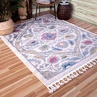 """product image for Orian Rugs Chesterfield Area Rug, 5'3"""" x 7'6"""", Soft White"""