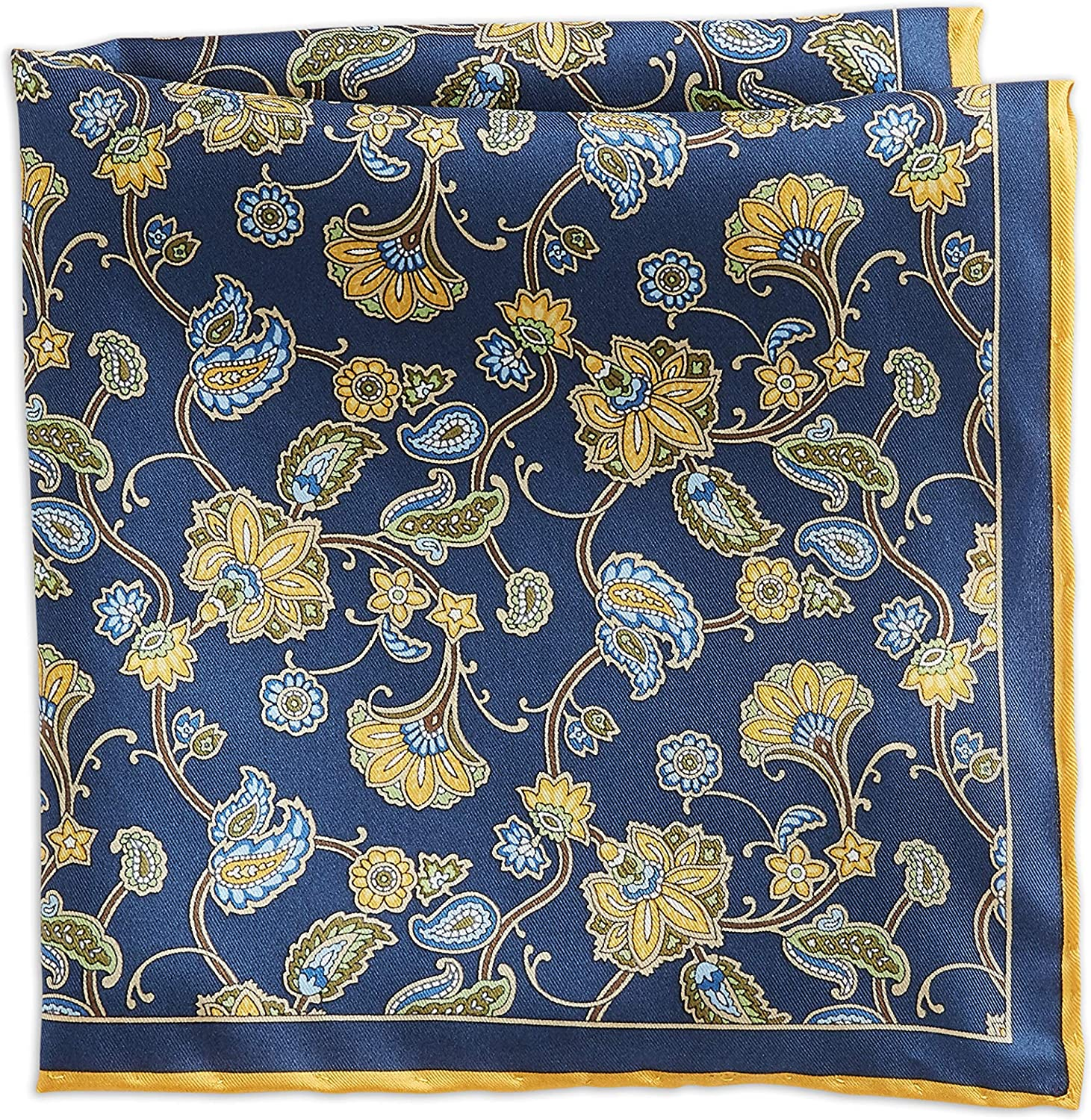 Rochester by DXL Paisley Silk Pocket Square