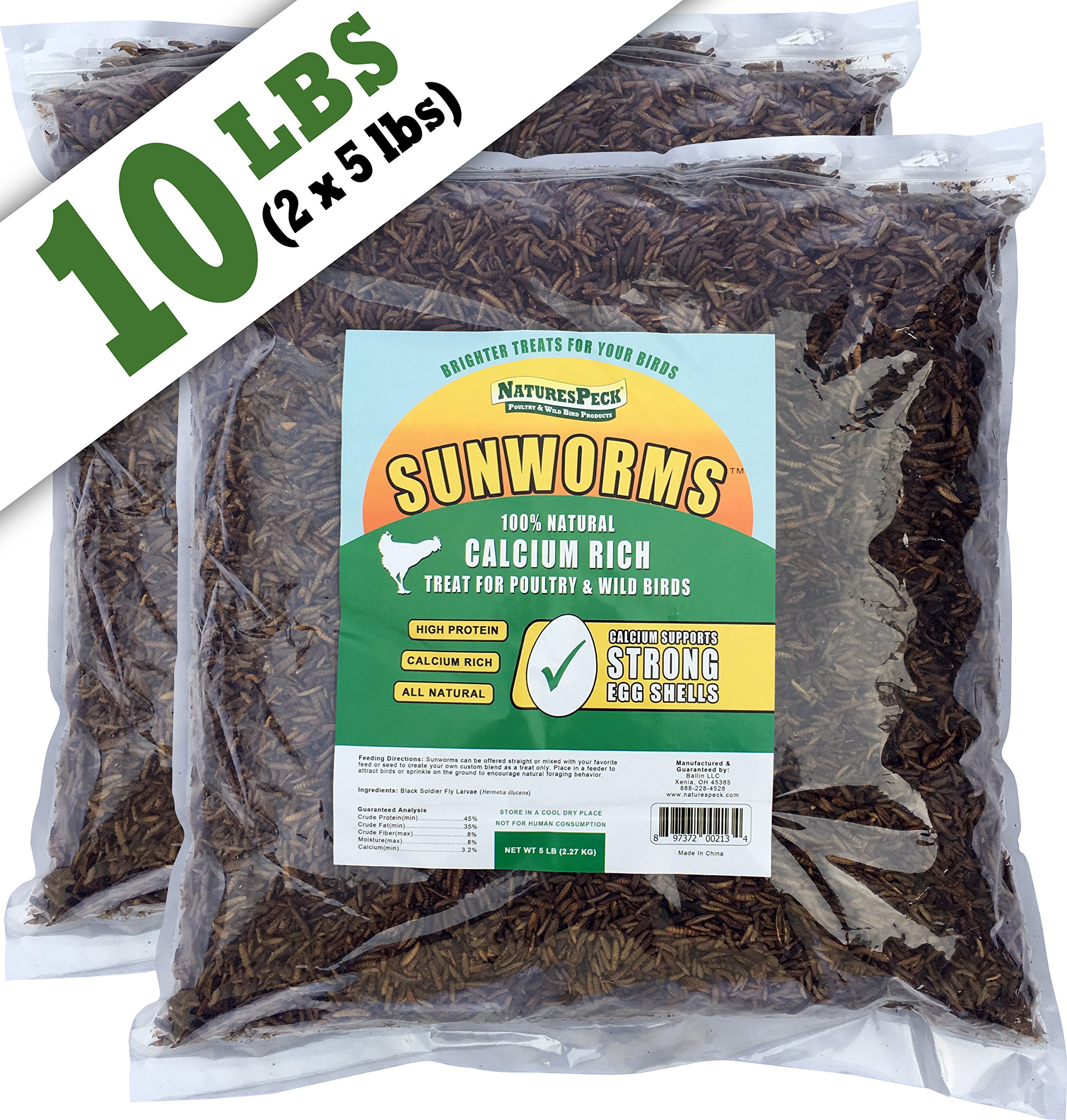 NaturesPeck Sunworms AKA Black Soldier Fly (10 lbs)