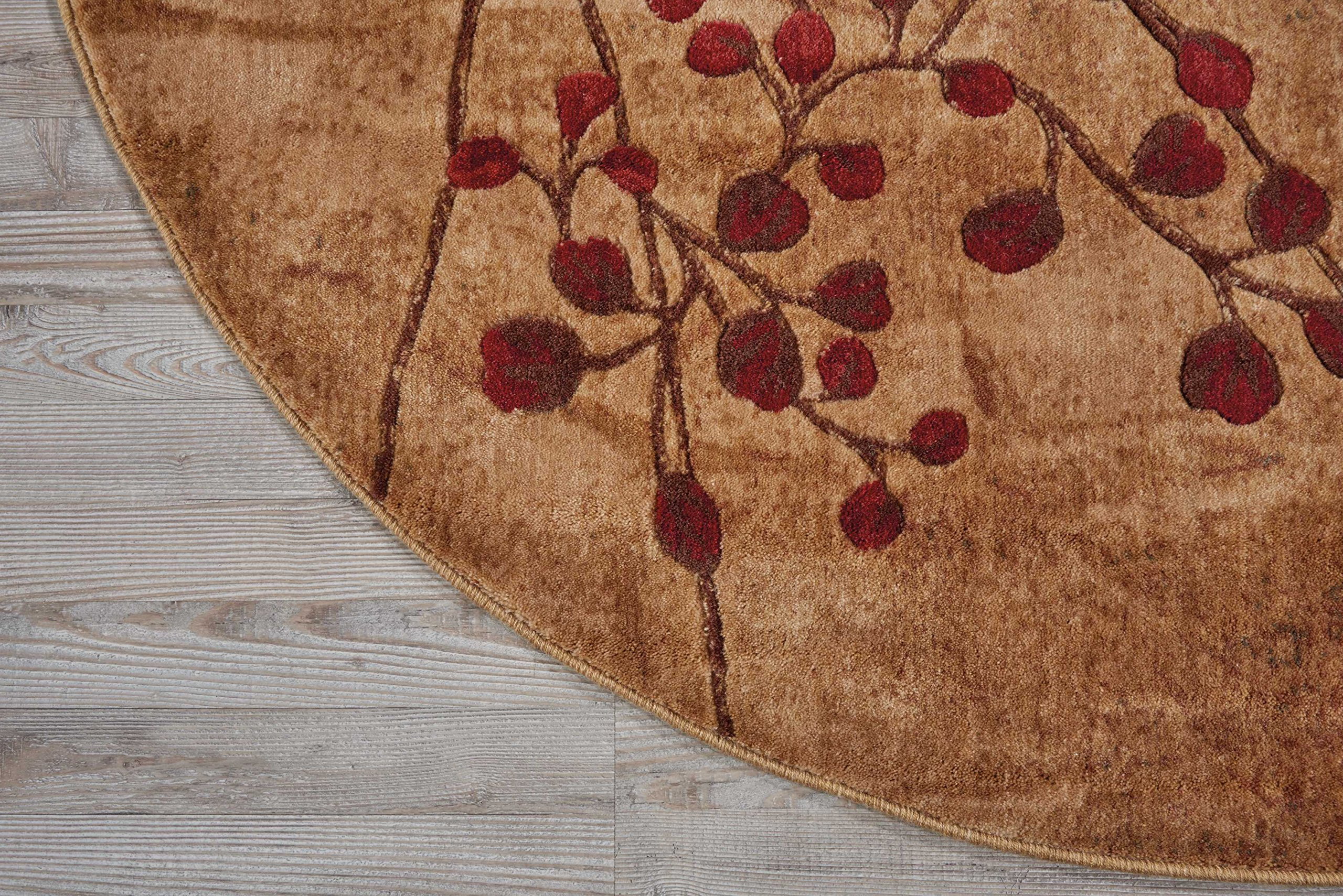Nourison Somerset (ST74) Latte Round Area Rug, 5-Feet 6-Inches by 5-Feet 6-Inches (5'6'' x 5'6'') by Nourison (Image #4)