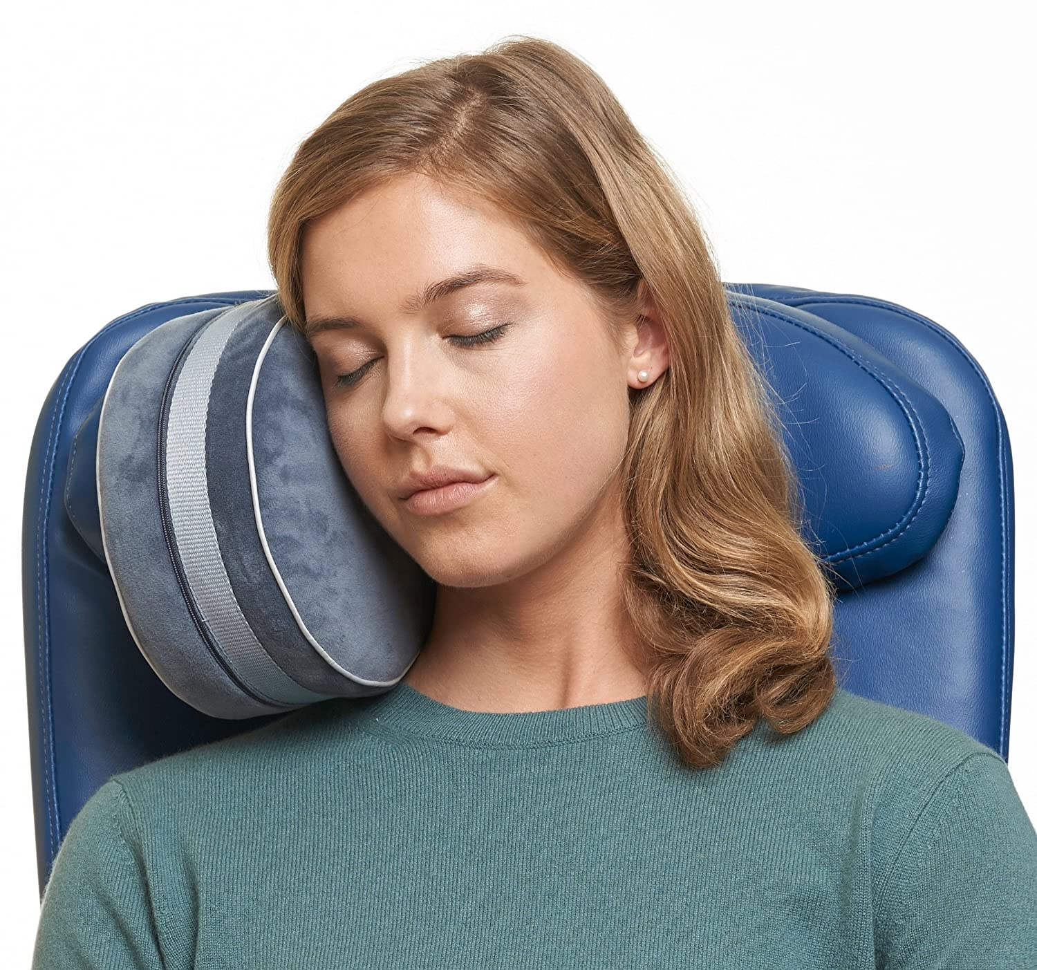 *NEW* Travelrest i-Lene Travel Pillow - The Best Neck Pillows for Airplanes - Attaches to Airplane Headrest - Dual-Density Memory Foam - Plush Washable Removable Cover (2-Year Warranty) TPF112B
