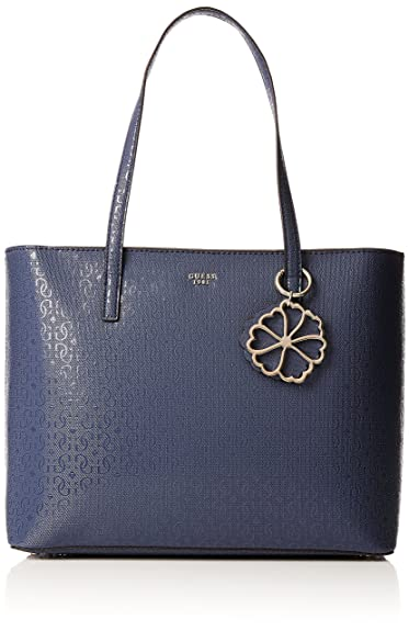 6a212ac1a3 Guess Bags Hobo, Sacs portés épaule femme, Bleu (Blue), 13x28x41.5 cm (W x  H L): Amazon.fr: Chaussures et Sacs