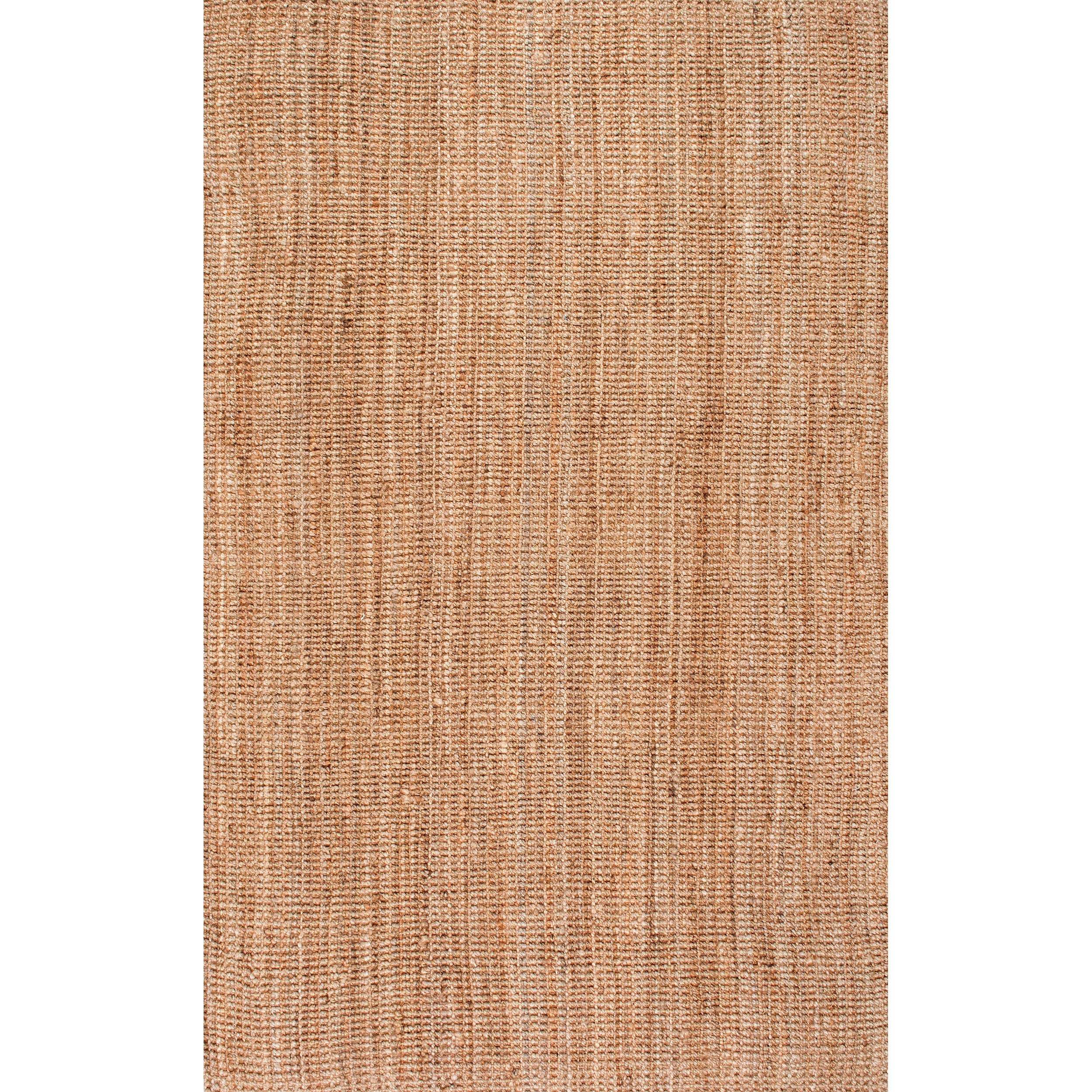 nuLOOM Handwoven Jute Ribbed Solid Area Rugs, 4' x 6', Natural by nuLOOM (Image #3)