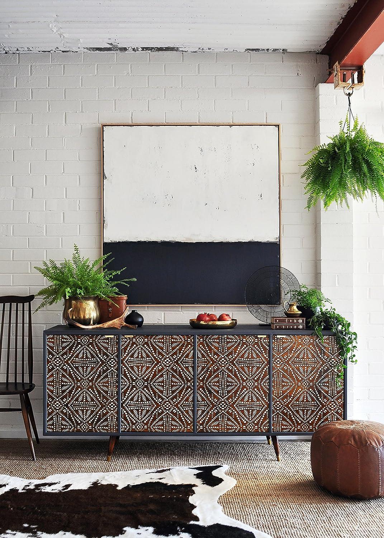 Tribal Batik Furniture Stencil - DIY African Design Furniture Painting