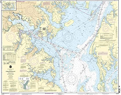 Amazon.com: NOAA print-on-demand Gráfico Chesapeake Bay ...