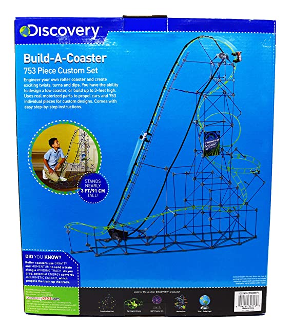 Amazon.com: Discovery Toys Kids Roller Coaster Build a Coaster 753 Piece Custom Set: Toys & Games
