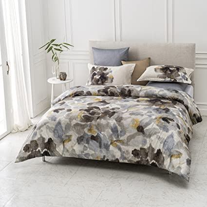 a6266f5d65ad9 A1 Home Collections A1HC Freshet Reversible Print 100% Organic Cotton Duvet  Cover and Sham Set