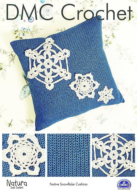 DMC Festive - Cojín, diseño de Copo de Nieve patrón de Ganchillo ...