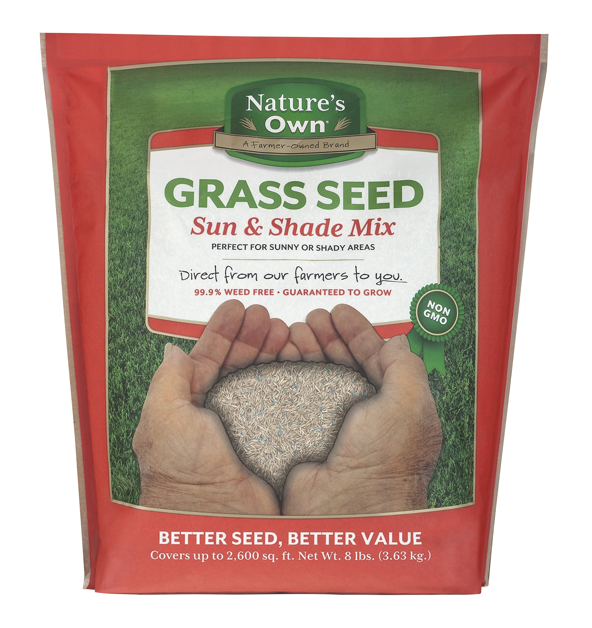 Mountain View Seeds Natures Own Sun & Shade Mix Grass Seed, 8-pounds by Mountain View Seed (Image #1)