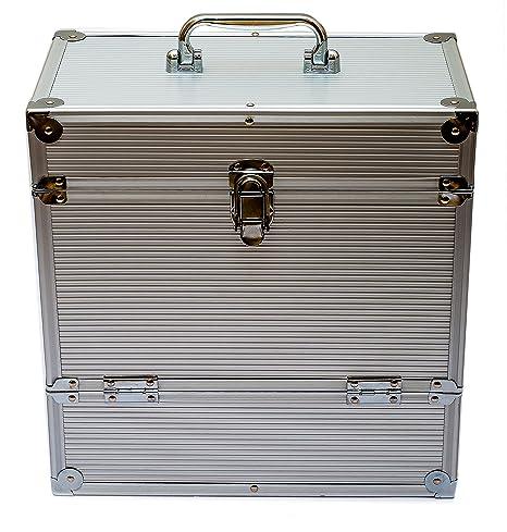 Retro Musique Aluminium LP Storage Box With Unique Folding Front Flap For  Better Access To Your