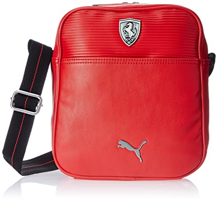 a3533242e283 Puma Ferrari LS Portable Small Messenger Travel Airliner Shoulder Bag - Red