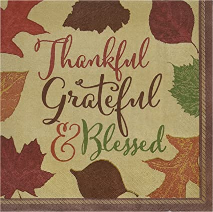 36 Piece Brown 8 x 8 TradeMart Inc 8 x 8 Amscan Autumn Traditions Thanksgiving Party Paper Dinner Napkins 821513