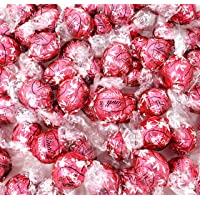 CrazyOutlet Lindt Lindor Strawberries Cream White Chocolate Truffles Candy, Limited Edition Bulk Bag, 2 Lbs