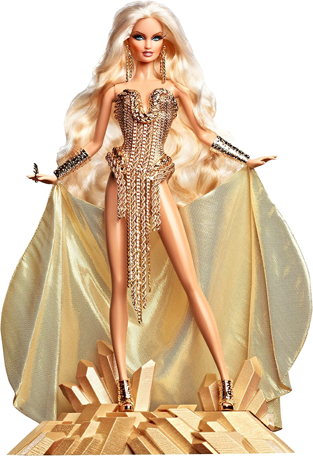 Amazon Com Barbie Collector The Blonds Blond Gold Barbie Doll Toys Games