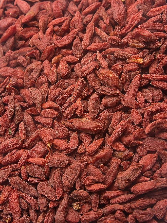 Biojoy Bayas de Goji orgánicas, sin azufre y azúcar Lycium barbarum (0,5 kg)