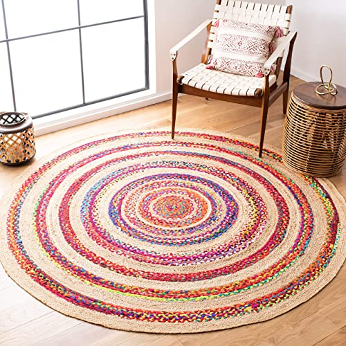 Safavieh Natural Fiber Collection NFB301U Chindi Jute Area Rug