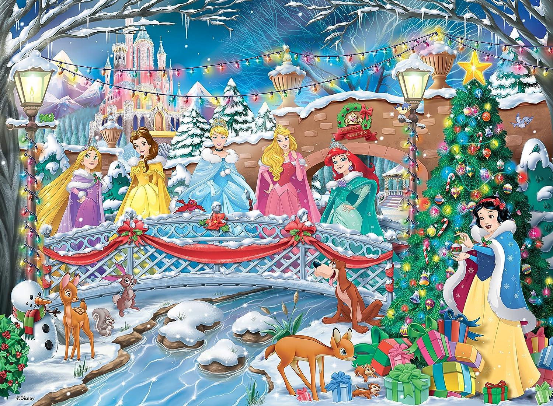 Amazon.com: Disney Princess Christmas Celebrations 500 Piece Jigsaw ...