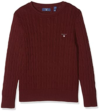 discount coupon super quality special section Gant Boy's Cotton Cable Crew Jumper