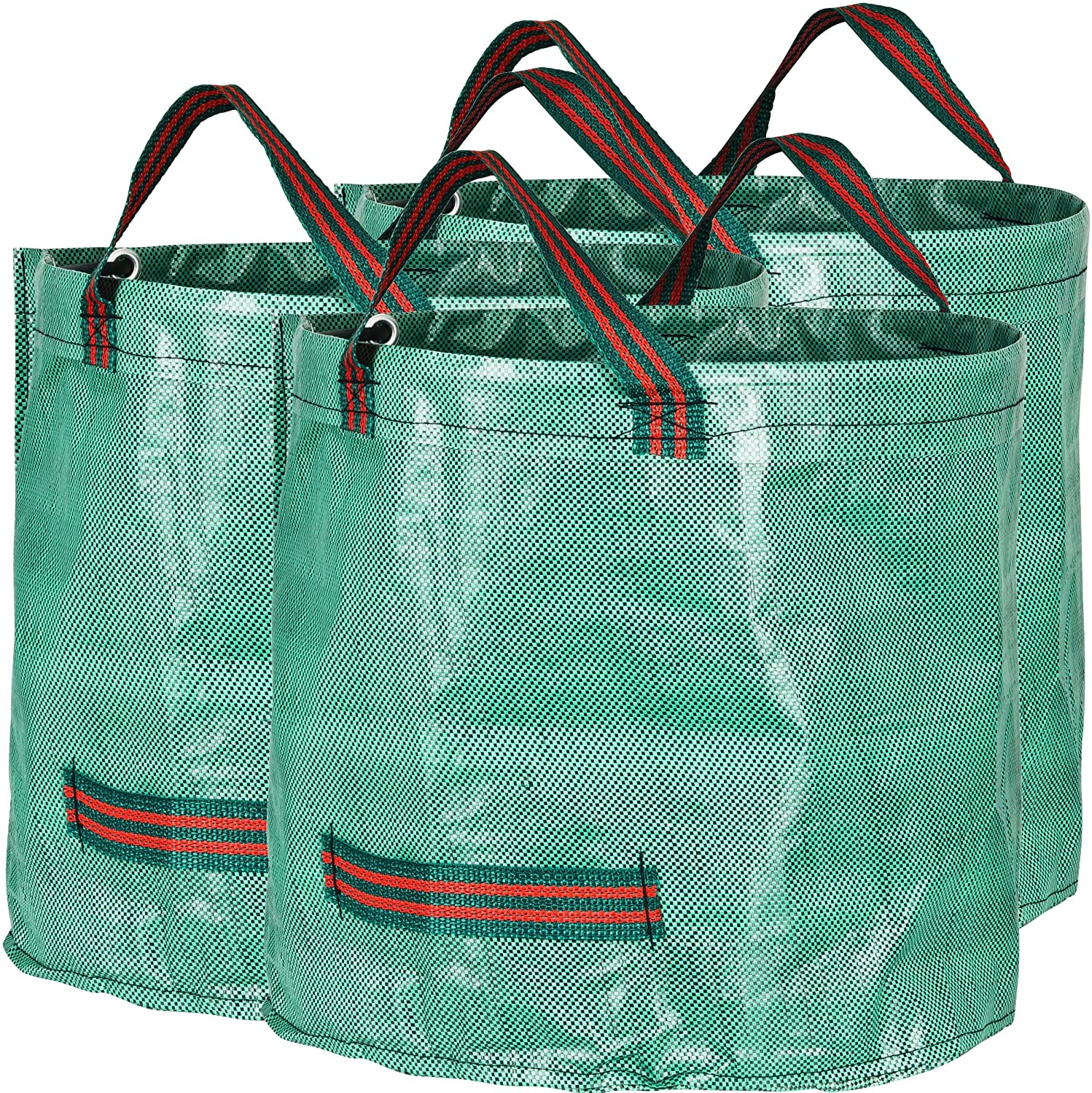 GardenMate 3-Pack 16 Gallons Reusable Garden Waste Bags (H15, D18 inches) - Yard Waste Bags