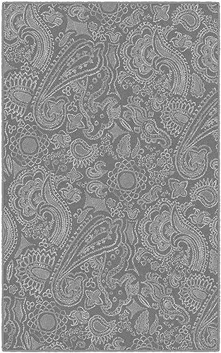 Brumlow Mills Paisley In Gray Rug, 5 x 8 ,