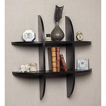 Danya B Tic Tac Toe Floating Black Shelf. Amazon com  Danya B Tic Tac Toe Floating Black Shelf  Home   Kitchen