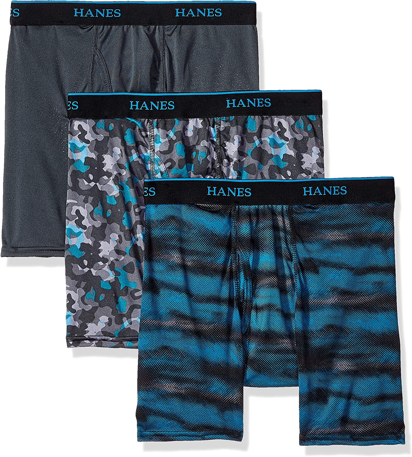 Hanes Ultimate Boys Big X-Temp Embossed Boxer Brief 3-Pack