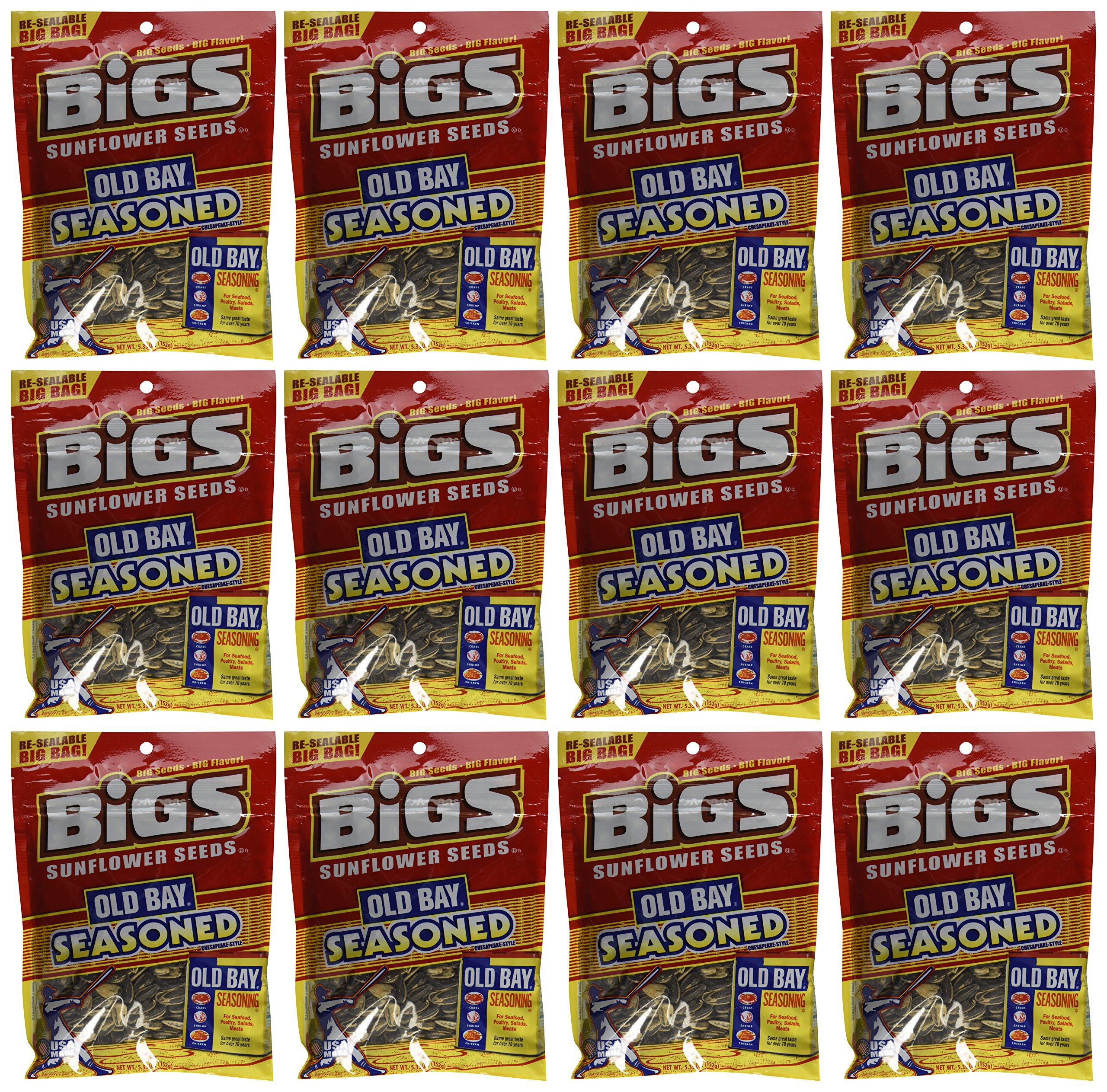 Bigs Old Bay Catch of the Day Seasoned Sunflower Seeds, 5.35 Ounce -- 12 per case by Thanasi