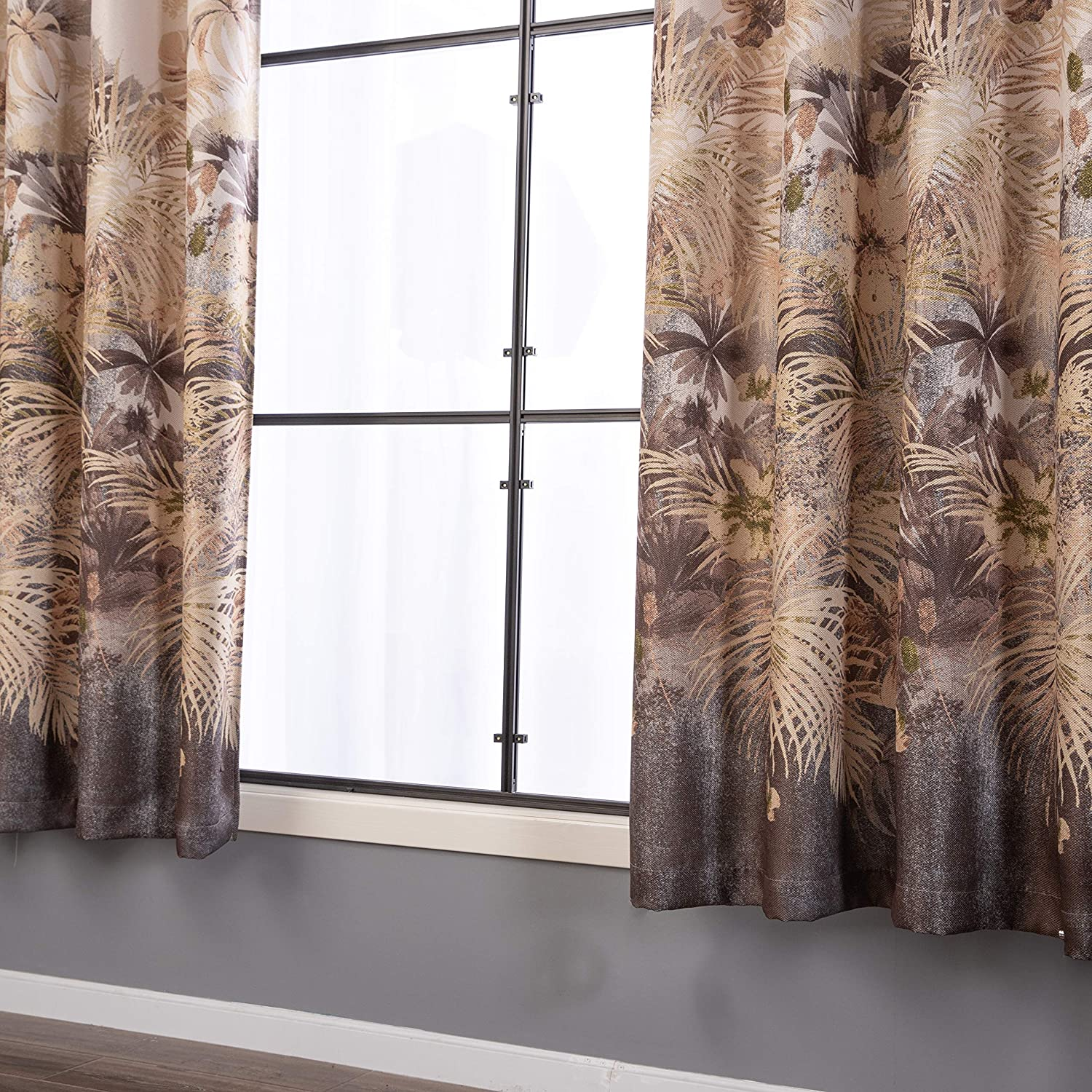 Floral Print Curtain 1 Piece Set Taisier Home Stylish Living Elegant Abstract Colorful Curtains Printed,Colorful Flower Curtain Printed,Fashion Curtain 84 Inch Lenth for Bedroom