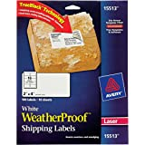 """Avery WeatherProof Mailing Labels with TrueBlock Technology for Laser Printers 2"""" x 4"""", Pack of 100 (15513)"""