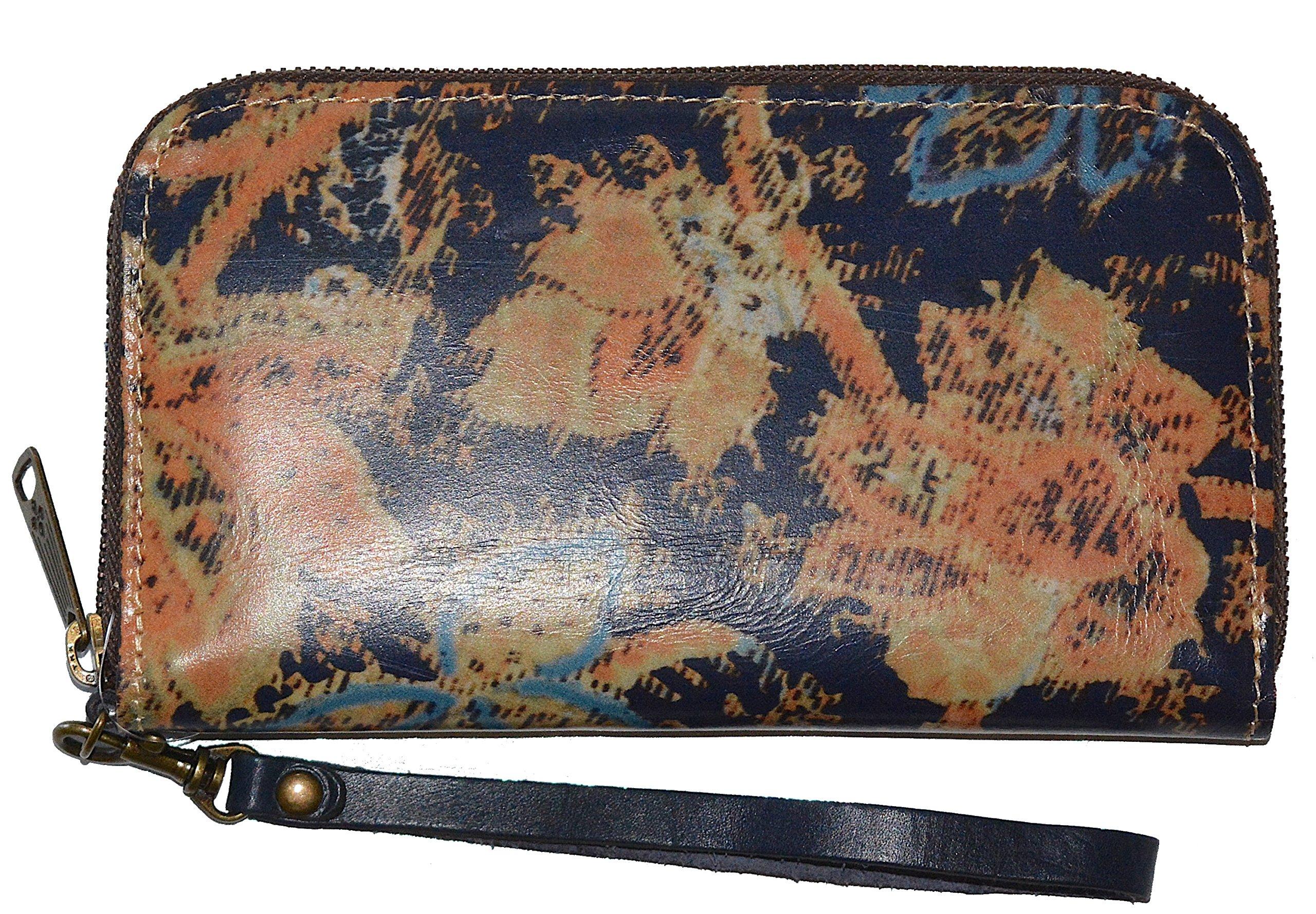 Patricia Nash Italian Leather Women's Biscay Wristlet Clutch Wallet Purse Bag