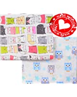 100% Organic Cotton Large Soft Flannel Baby Receiving Swaddling Blankets Baby Boy Girl Newborn Unisex Set 2. Baby Swaddle blankets Made in Europe. Big size 37'' x 43''. Great Baby Shower gift