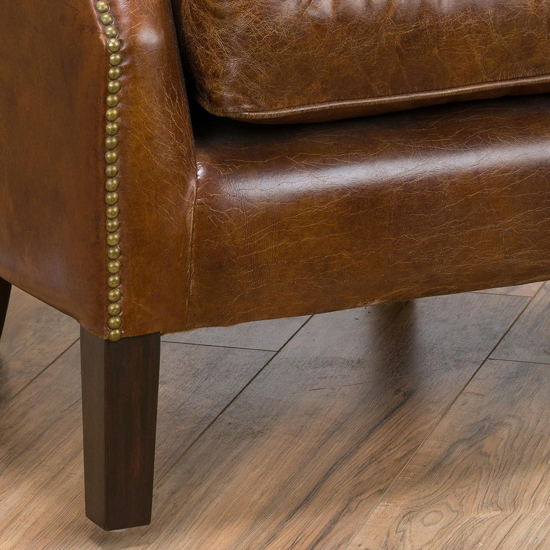 Amazon Tiller Top Grain Vintage Design Brown Leather Club