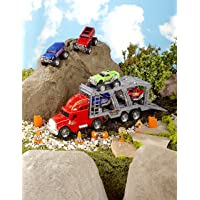 The Lakeside Collection 14-Pc. Monster Truck Hauler Playset - Toy Car Set for Kids