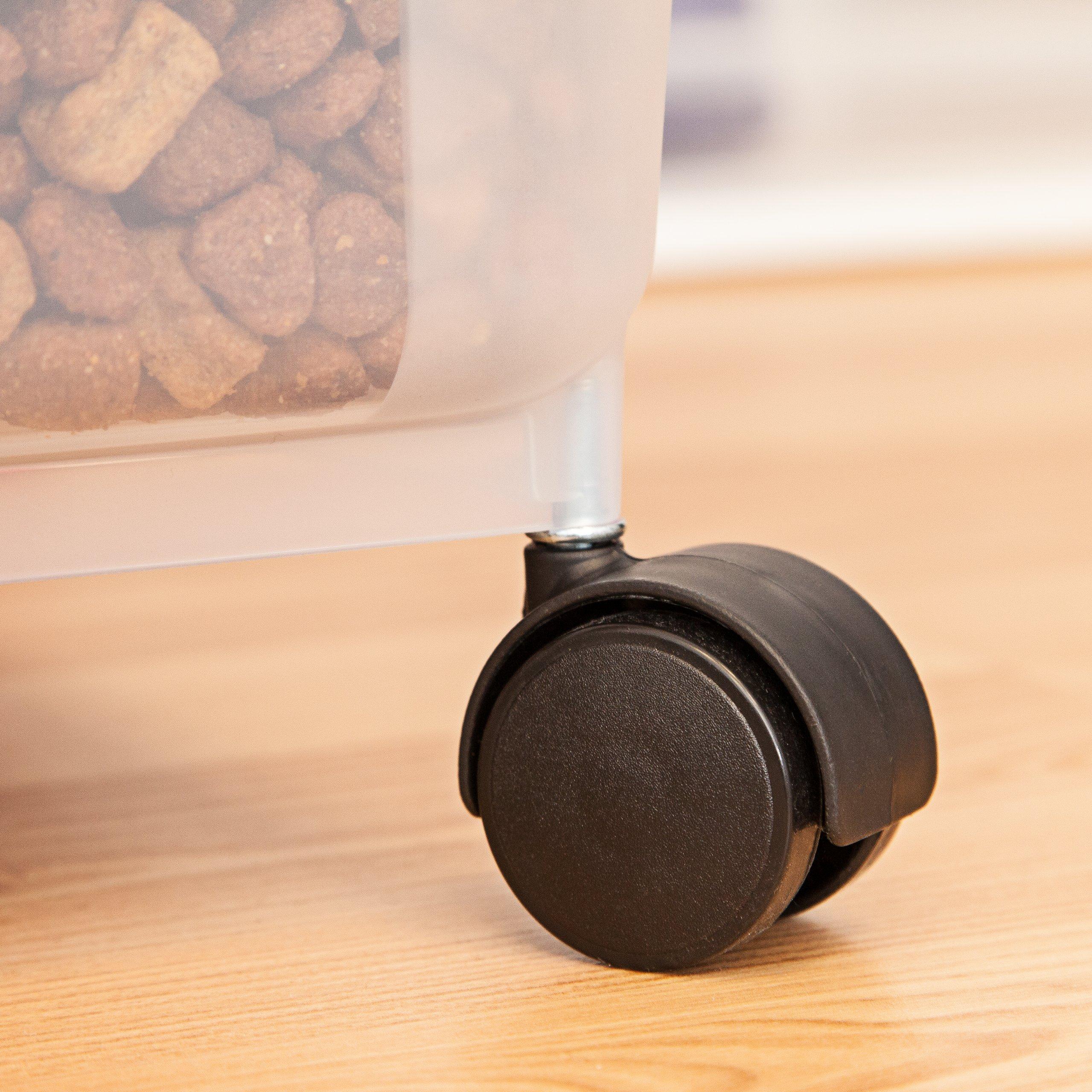 IRIS Premium Airtight Pet Food Storage Container, 22-Pounds,  Almond