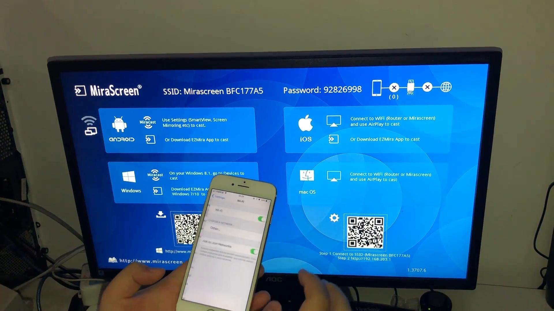 Setup on IOS Device -SmartSee 4K Anycast M100