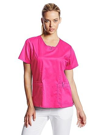 e275f56cc41 Amazon.com: Cherokee Women's Luxe Contemporary Junior-Fit V-Neck Top ...