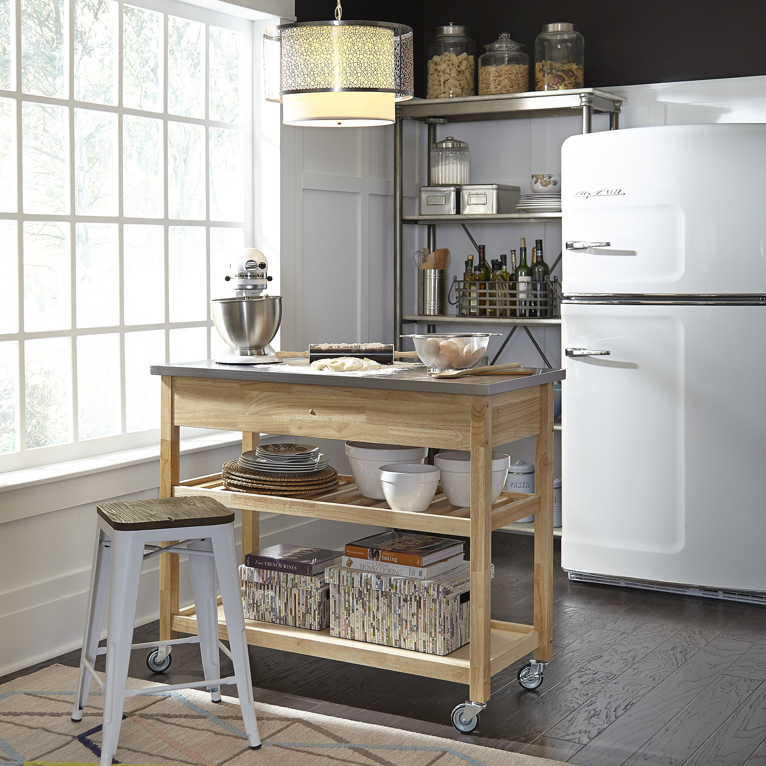 Home styles natural designer utility cart parent best carts Home styles natural designer utility cart