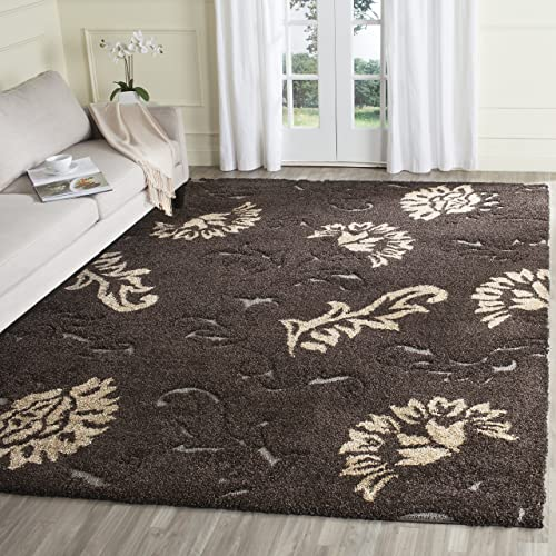 Safavieh Florida Shag Collection SG463-2879 Floral Textured 1.18-inch Thick Area Rug