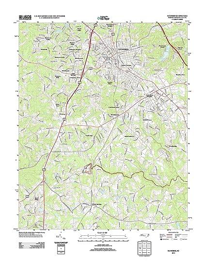 Amazon Com Topographic Map Poster Sanford Nc Tnm Geopdf 7 5x7 5