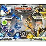 Monsuno Serie 1 - 4 Core Combat Pack with Charger #03, Glowblade #12, Riccoshot #11, Black Bullet #05, 4 Cores and 12 Cards