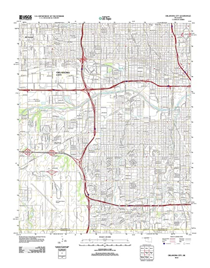 Amazon.com: Topographic Map Poster - OKLAHOMA CITY, OK TNM GEOPDF ...
